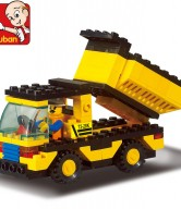 Compatible-With-LegoBuilding-Block-Set-SLuBan-B9500-Heavy-engineering-dump-truck-3D-Model-Educational-building-blocks